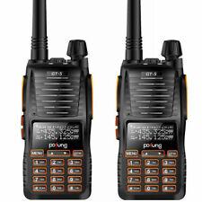 2×Baofeng/Pofung *GT-5* 136-174/400-520MHz Dual Band Radio Emisora Walkie Talkie