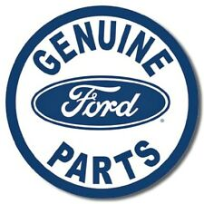 "Ford Genuine Parts 12"" Round Tin Sign Nostalgic Metal Sign Retro Garage Decor"