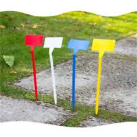 15pcs 30cm T-Type Plastic Plant Stakes Upturned Labels Garden Nursery Tags Long