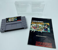 Super Mario All-Stars SNES Super Nintendo Cartridge & Manual Only Tested Cleaned