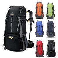 60L Men Women Camping Hiking Backpack Trip Travel Luggage Bag Outdoor Daypacks