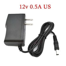 AC Converter Adapter DC 12V 0.5A 500mA Power Supply Charger US DC 5.5mm x 2.1mm