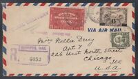 Canada 1934 REGISTERED SPECIAL DELIVERY Airmail Cover Winnipeg to USA