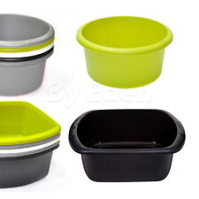 Washing Up Bowl Round / Rectangular Plastic Small & Large Basin Sink Kitchen