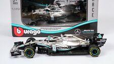 Lewis Hamilton Mercedes W10 1/43 Bburago Modellino F1 2019