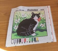 Orchidea Tapestry Kit- Cat (Canvas, Wool & Needle)