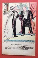 CPA. Gauloiseries Françaises. Jeunes Mariés. Père. Illustrateur A.P.J. Humour