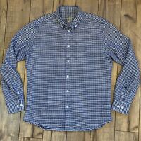 Line of Trade Men's Medium Gingham Plaid Button Down Shirt Heavy Cotton