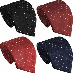 WCT - Small Polka Dot Spot Spotty Spots Mens Casual Standard Tie - British Made
