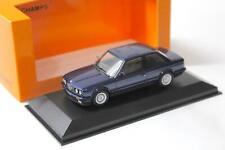 BMW 3er E30 1989 blau Metallic Modellauto 1 43 Maxichamps
