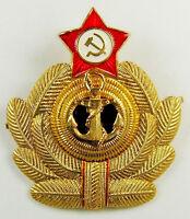 Original Soviet Russian Navy Officer Cap Hat Badge USSR Military Naval Cockade