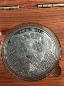 AFRICAN LION 4 Oz Silver Coin, **ONLY 400 made**, 5000 Francs Congo, 2013, #33