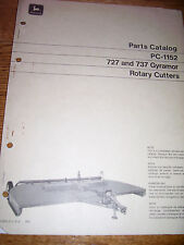 VINTAGE  JOHN DEERE PARTS MANUAL - #727 & 737 ROTARY CUTTER- 1972