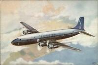 SABENA Airlines DC-6 Airplane Air Line Issued Postcard