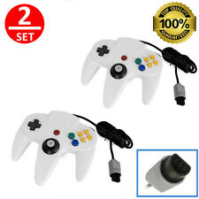 2 lot White Game Controller Pad Joystick for Nintendo 64 N64 Console