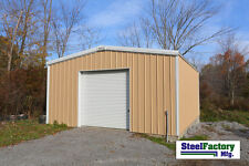 Steel Factory Mfg 24x24x12 Galvanized Steel Metal Storage Garage Building Kit