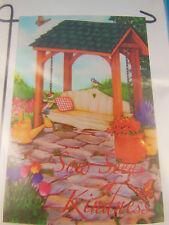 Celebrate It  Garden Flag Sow Seeds Of Kindness 12X18 Spring birds, swing Gazebo