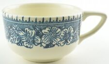Royal China Colonial Heritage Blue Pattern Flat Cup Stoneware Floral Flowers
