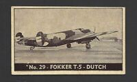 DOUGLASS - PLANES OF OTHER NATIONS - #29 FOKKER T 5 DUTCH