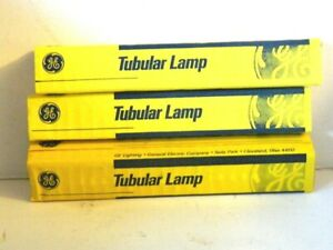 Lot of 3 GE Tubular Lamp 20T6 1/2 Frosted Incandescent Lamp Bulb