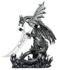 "OBSIDIAN BLADE    Dragon Knife    Figure Statue H13.25"""
