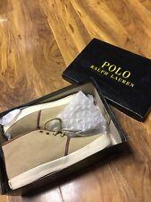 Polo Ralph Lauren Boys/Girls Tan Suede Trainer  Boot UK 5,New