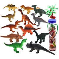 Kids Craft Collectibles Ornament Animal Model 12pcs Plastic Dinosaur Toy