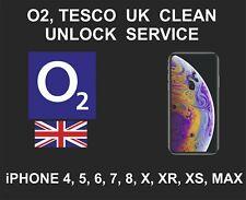 O2 UK Clean Unlock Service, fits iPhone 4, 5, 6, SE, 7, 8, X, XR, XS, MAX