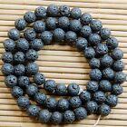 Natural Black Rock Lava Gemstone Round Beads 15'' 4mm 6mm 8mm 10mm 12mm 14mm