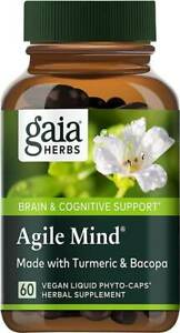 Agile Mind by Gaia Herbs, 60 vegan liquid phyto caps