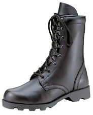 JUMP BOOTS SPEED LACE LEATHER 8 inch MILITARY STYLE ARMY 5-13 Reg & Wide