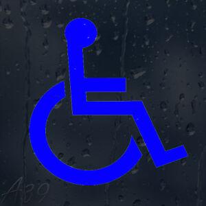 Blue Wheelchair Car Windscreen Body Panel Bumper Window Decal Vinyl Sticker