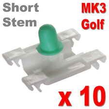 Golf MK3 puerta recortar clips Bumpstrip tira de moldeo VW VOLKSWAGEN Corto Tallo