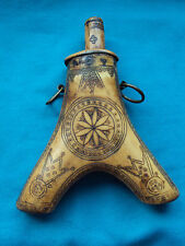 Antique Gun Powder Horn, Transylvania, 17th century