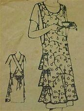 SALE Vintage Bib Apron Full Size Sewing Fabric Pattern Flapper Roaring 20s SEW
