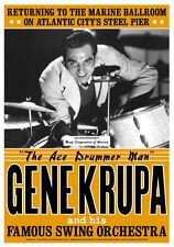 Jazz Drummer & Band Leader: Gene Krupa at Atlantic City Concert Poster 1941