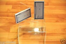 clear acrylic raffle WITH SIGN CONTEST Ballot Donation Box 7X4X8 WITH 200 FORMS