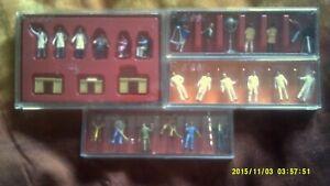 lot de 4 boites de figurines HO   PREISER