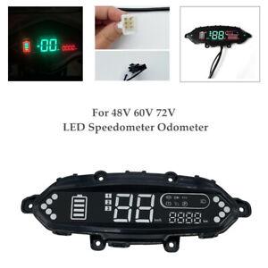 48V 60V 72V Electric Bicycle Scooter Meter Odometer Control Panel Dash Display×1