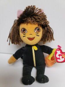 "Ty Beanie Babies-Dora The Explorer-Halloween Cat Costume  MWMT 8"" with Pumpkin"