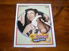 BOSTON RED SOX TED WILLIAMS 1991 UPPER DECK BASEBALL HEROES #29 OF 36