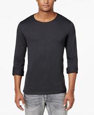 INC Lead Gray Men's Long-Sleeve Crew NeckT-Shirt - XL