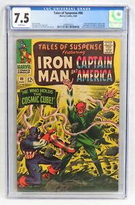 Marvel Comic Tales of Suspense #80 CGC 7.5 Cosmic Cube Saga Red Skull Cover 1966