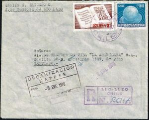 709 CHILE REGISTERED COVER 1975 SOCCER WC GERMANY 74' LLO LLEO - SANTIAGO