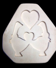 """Scioto 1211""""Ducks with Hearts"""" open pour ceramic mold vintage discontinued S1211"""