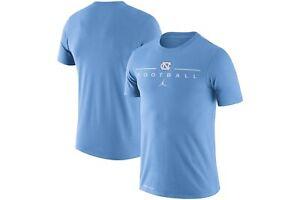 North Carolina UNC Tar Heels Football Nike Jordan Icon Word Shirt NWT Medium