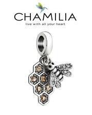 Genuine CHAMILIA 925 sterling silver Swarovski MY HONEYBEE bee dangle charm bead