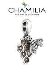 Genuine CHAMILIA 925 sterling silver Swarovski MY HONEYBEE bee dangle charm bead