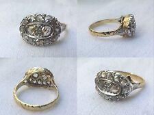 Anello Antico in Oro18 Kt, argento  e Diamanti (Rose Coronè)