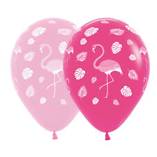 Assorted Pink Flamingo Balloons Mad Hatters  Alice In Wonderland Tea Party x 5
